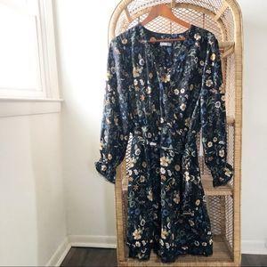 Dex Plus NWT Floral Blue Dijon Long Sleeve Dress✨